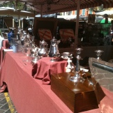 coffee pots and candlesticks
